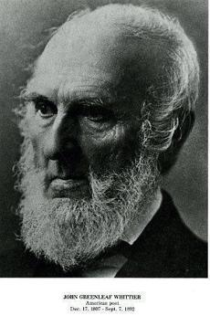 John Greenleaf Whittier, American poet.